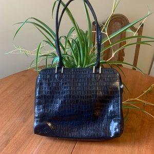 Karen Callan Designs Alligator black briefcase